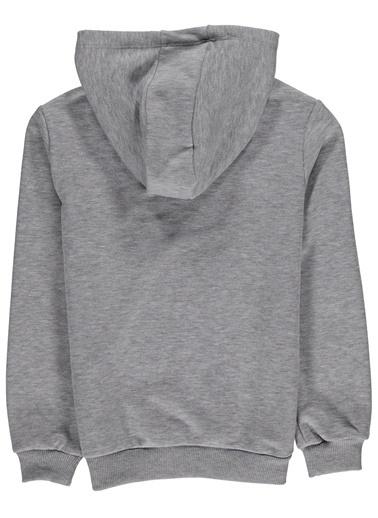 Morhipo Kids Kapşonlu Baskılı Sweatshirt Gri
